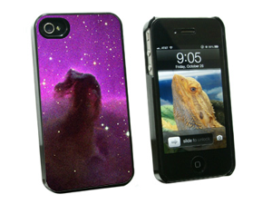 Horsehead Nebula Space - Snap On Hard Protective Case for Apple iPhone 4 4S - Black