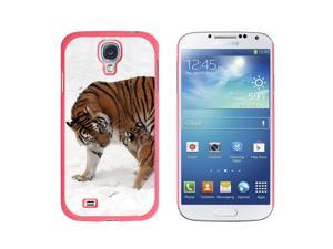 Siberian Tiger with Cub Baby - Snap On Hard Protective Case for Samsung Galaxy S4 - Pink