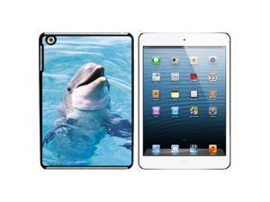 Dolphin - Porpoise Snap On Hard Protective Case for Apple iPad Mini - Black