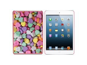 Candy Hearts Snap On Hard Protective Case for Apple iPad Mini - Pink