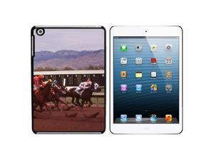 Horse Race Racing Snap On Hard Protective Case for Apple iPad Mini - Black