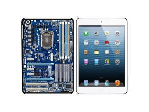 Blue Computer Motherboard - Processor CPU Memory Snap On Hard Protective Case for Apple iPad Mini - Black