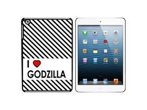 I Love Heart Godzilla Snap On Hard Protective Case for Apple iPad Mini - Black