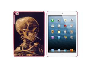 Skull With a Burning Cigarette - Van Gogh Snap On Hard Protective Case for Apple iPad Mini - Pink