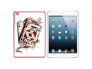 Ace Jack of Spades - Deck Cards Poker Gambling Snap On Hard Protective Case for Apple iPad Mini - Pink