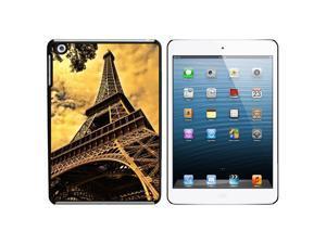 Eiffel Tower Paris Vintage Snap On Hard Protective Case for Apple iPad Mini - Black