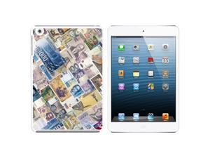 World Currency Money Snap On Hard Protective Case for Apple iPad Mini - White