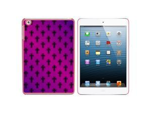 Crosses on Parade Christian Purple Snap On Hard Protective Case for Apple iPad Mini - Pink