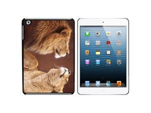 Male and Female Lions Snap On Hard Protective Case for Apple iPad Mini - Black