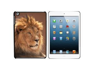 Male Lion Snap On Hard Protective Case for Apple iPad Mini - Black