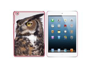 Great Horned Owl Snap On Hard Protective Case for Apple iPad Mini - Pink