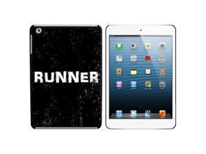 Runner Distressed - Marathon Jogging Snap On Hard Protective Case for Apple iPad Mini - Black
