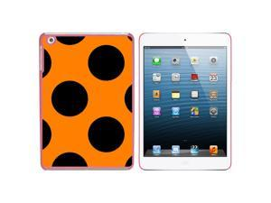 Mega Polka Dots Black Orange Snap On Hard Protective Case for Apple iPad Mini - Pink