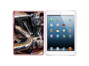 Motorcycle Chrome Motor Cylinder Exhaust Snap On Hard Protective Case for Apple iPad Mini - Pink