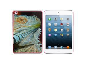 Iguana Eye - Lizard Blue Green Snap On Hard Protective Case for Apple iPad Mini - Pink - OEM