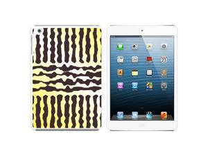 Urban Sketchy Yellow Gray Snap On Hard Protective Case for Apple iPad Mini - White