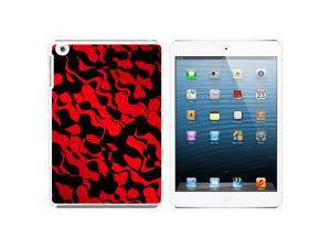 Urban Flow Red Black Snap On Hard Protective Case for Apple iPad Mini - White