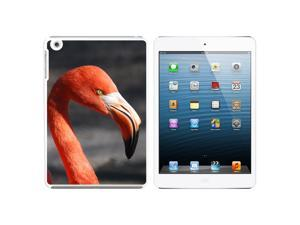Flamingo Portrait Snap On Hard Protective Case for Apple iPad Mini - White