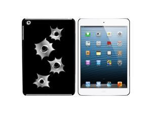 Bullet Holes Snap On Hard Protective Case for Apple iPad Mini - Black