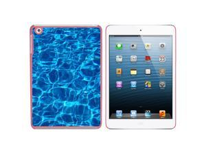 Swimming Pool Blue Water Snap On Hard Protective Case for Apple iPad Mini - Pink
