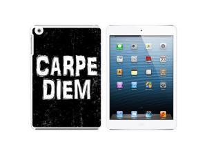 Carpe Diem Sieze the Day Latin Inspirational Snap On Hard Protective Case for Apple iPad Mini - White