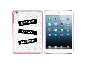 Peace Love Bassoon Snap On Hard Protective Case for Apple iPad Mini - Pink