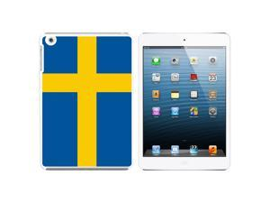 Sweden Flag Snap On Hard Protective Case for Apple iPad Mini - White