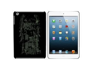 Fallen Angel - Unholy Skeleton Grim Reaper Snap On Hard Protective Case for Apple iPad Mini - Black