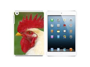 White Rooster Chicken Snap On Hard Protective Case for Apple iPad Mini - White
