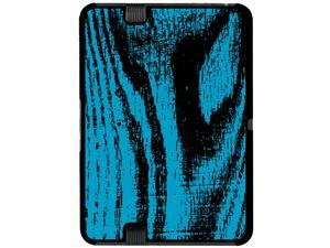 Wood Grain Blue - Snap On Hard Protective Case for Amazon Kindle Fire HD 7in Tablet