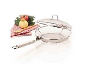 Stainless Steel Mesh Fry Pan with Lid