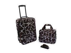 Rockland Rio Upright Carry-On & Tote 2-Piece Luggage Set - Giraffe