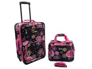 Rockland Rio Upright Carry-On & Tote 2-Piece Luggage Set - Pucci