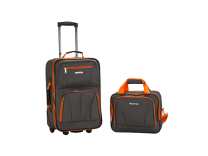 Rockland Rio Upright Carry-On & Tote 2-Piece Luggage Set - Charcoal