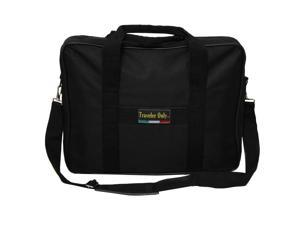 Traveler Only Polyester Lightweight Soft Attaché Business Briefcase - Black