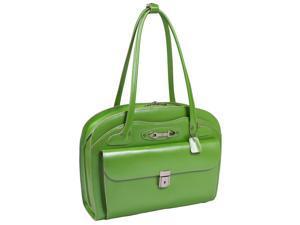 "McKlein Lyndon Ladies' Italian Leather 15.4"" Laptop Briefcase - Green"