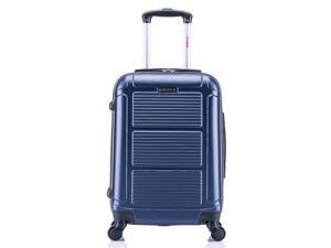 InUSA Pilot Lightweight Hardside Spinner 20-inch Carry-on - Navy Blue