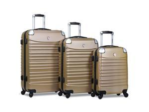 Dejuno Impact Hardside 3-Piece Spinner Luggage Set - Champagne