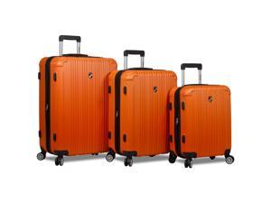 Dejuno Atlas 3-Piece Hardside Spinner TSA Combination Lock Luggage Set - Orange