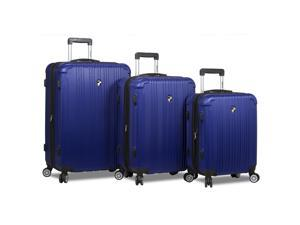 Dejuno Atlas 3-Piece Hardside Spinner TSA Combination Lock Luggage Set - Navy
