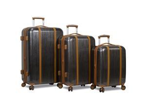 Dejuno Monroe 3-Piece Hardside Spinner TSA Combination Lock Luggage Set - Black