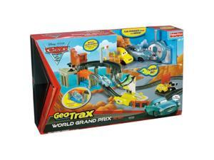 Fisher Price Disney Cars GeoTrax World Grand Prix R/C Racing Set Acer & Finn