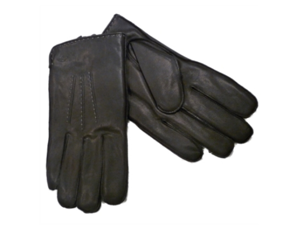 Dockers Mens Black Genuine Leather Gloves Micro Terry Lined