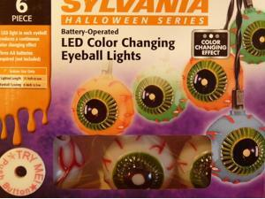 Sylvania 6 LED Color Changing Eyeball Lights Halloween ...