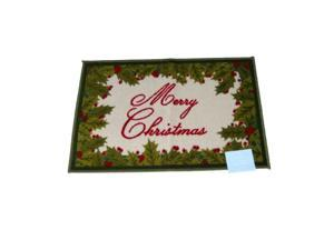 St Nicholas Square Merry Christmas Accent Throw Rug Non Skid Holiday Mat 20x30