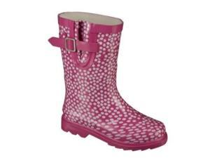 Cherokee Girls Pink & White Polka Dots Rain Boots Galoshes