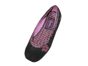 Girls Black Suede Barbie Mary Janes Ballet Flats
