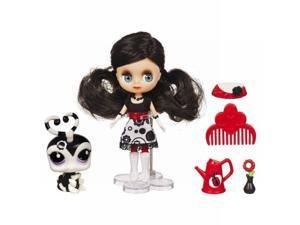 Littlest Pet Shop Flowers & Fashion Blythe Doll and 1 Pet Black & White