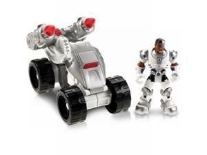 Fisher Price DC Super Friends Hero World Cyborg & ATV Action Figure Set and DVD