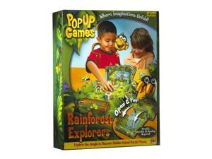 Rain Forest Safari Pop Up Game Portable Open & Play